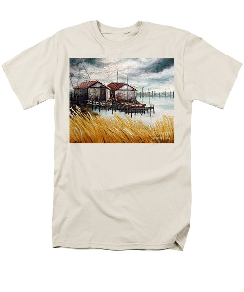Huts By The Shore Men's T-Shirt  (Regular Fit)