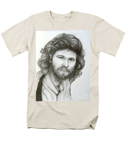 Men's T-Shirt  (Regular Fit) featuring the drawing Barry Gibb by Patrice Torrillo