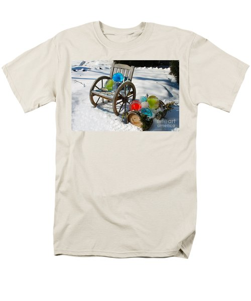 Men's T-Shirt  (Regular Fit) featuring the photograph Ice Ball Art by Nina Silver