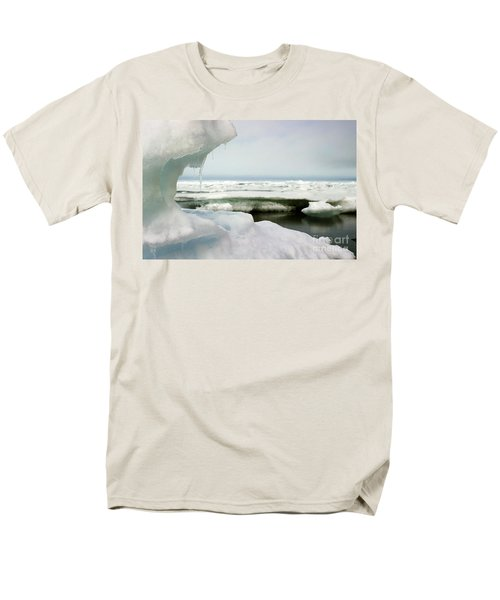 Men's T-Shirt  (Regular Fit) featuring the photograph Ice Barrow Alaska July 1969 By Mr. Pat Hathaway by California Views Mr Pat Hathaway Archives