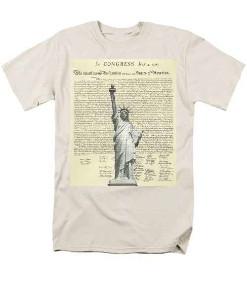 Icon Of Freedom Men's T-Shirt  (Regular Fit) by Charles Beeler