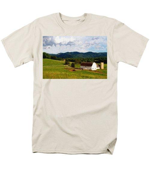 Men's T-Shirt  (Regular Fit) featuring the painting Impressionist Farming by John Haldane