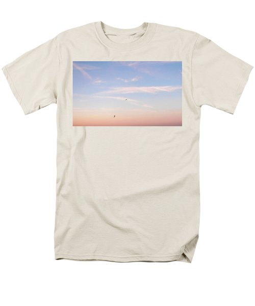 Men's T-Shirt  (Regular Fit) featuring the photograph In Flight Over Rehoboth Bay by Pamela Hyde Wilson
