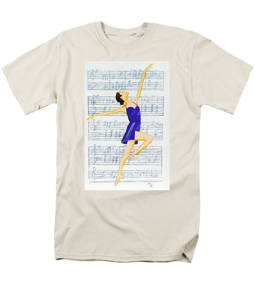 In Sync With The Music Men's T-Shirt  (Regular Fit) by Margaret Harmon