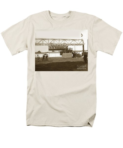 Men's T-Shirt  (Regular Fit) featuring the photograph Incredible Hanging Railway  1900 by California Views Mr Pat Hathaway Archives