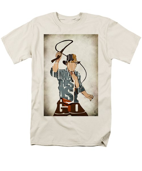 Indiana Jones - Harrison Ford Men's T-Shirt  (Regular Fit) by Ayse Deniz