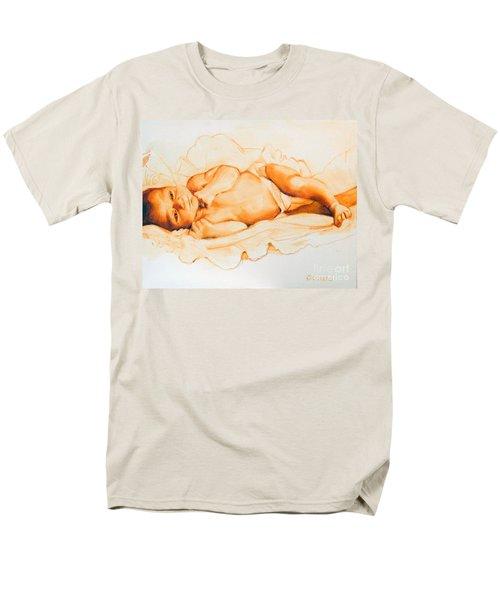 Men's T-Shirt  (Regular Fit) featuring the painting Infant Awake by Greta Corens