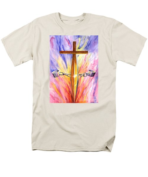 Isaiah Sixty One Verse One Men's T-Shirt  (Regular Fit) by Nancy Cupp