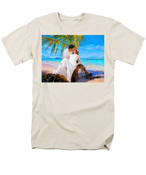 Men's T-Shirt  (Regular Fit) featuring the painting Island Honeymoon by Tim Gilliland