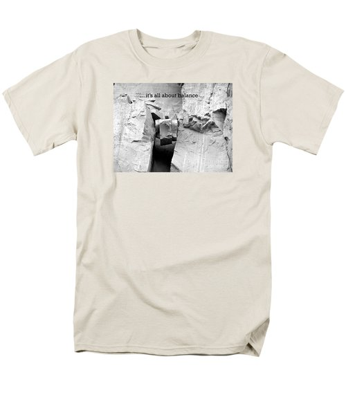 It's All About Balance Men's T-Shirt  (Regular Fit) by Susan  Dimitrakopoulos