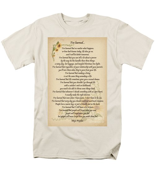 I've Learned Men's T-Shirt  (Regular Fit) by Olga Hamilton