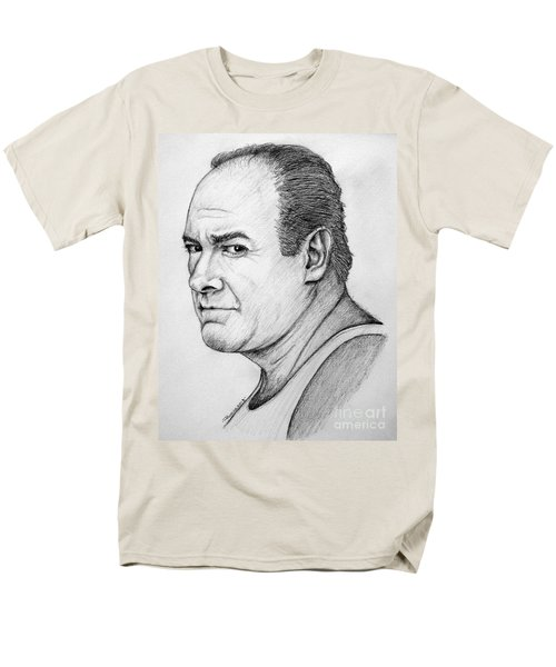 Men's T-Shirt  (Regular Fit) featuring the drawing James Gandolfini by Patrice Torrillo