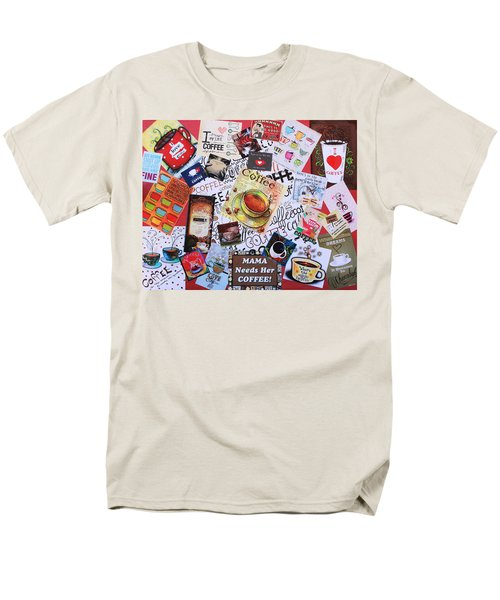 Java Lover's Collage Men's T-Shirt  (Regular Fit) by Natalie Ortiz