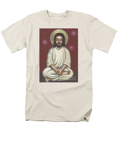 Men's T-Shirt  (Regular Fit) featuring the painting Jesus Listen And Pray 251 by William Hart McNichols