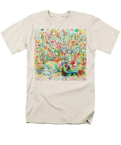 Jim Morrison Live On Stage.2 Men's T-Shirt  (Regular Fit)