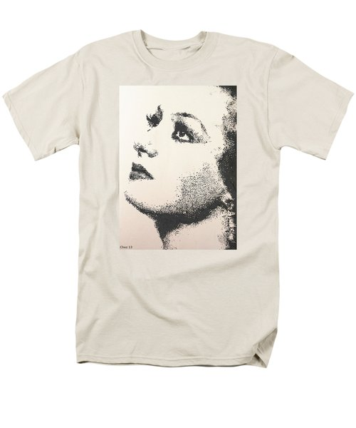 Men's T-Shirt  (Regular Fit) featuring the painting Joan Crawford by Cherise Foster