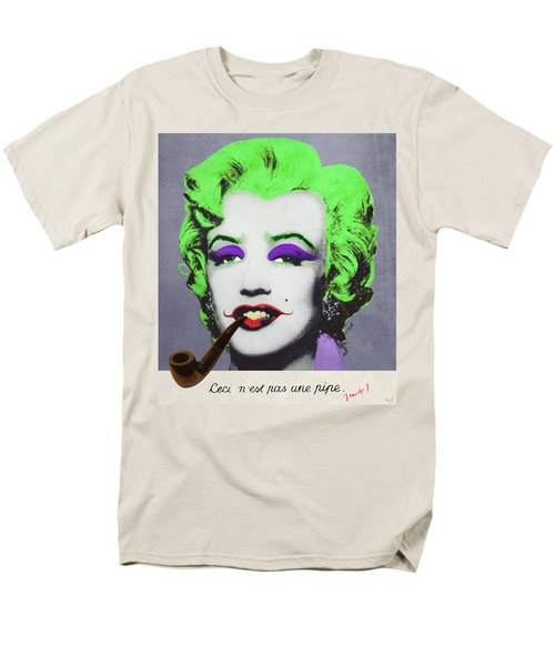 Joker Marilyn With Surreal Pipe Men's T-Shirt  (Regular Fit) by Filippo B