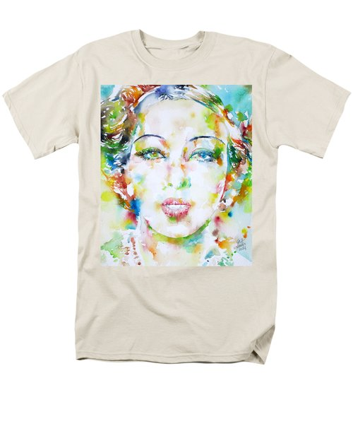 Josephine Baker - Watercolor Portrait Men's T-Shirt  (Regular Fit) by Fabrizio Cassetta