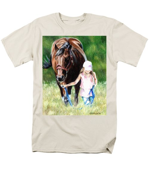 Just A Girl And Her Horse Men's T-Shirt  (Regular Fit) by Shana Rowe Jackson