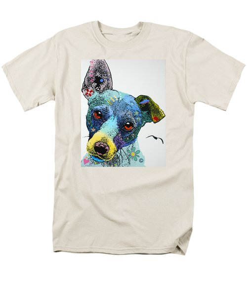 Men's T-Shirt  (Regular Fit) featuring the painting Jack by Luis Ludzska