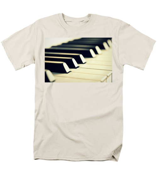 Keyboard Of A Piano Men's T-Shirt  (Regular Fit) by Chevy Fleet