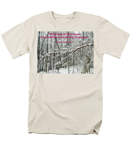 Men's T-Shirt  (Regular Fit) featuring the photograph Kindness Is Like Snow by Emmy Marie Vickers