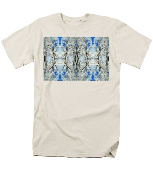 Lacy Winter Trees Abstract Art Photo Men's T-Shirt  (Regular Fit) by Marianne Dow