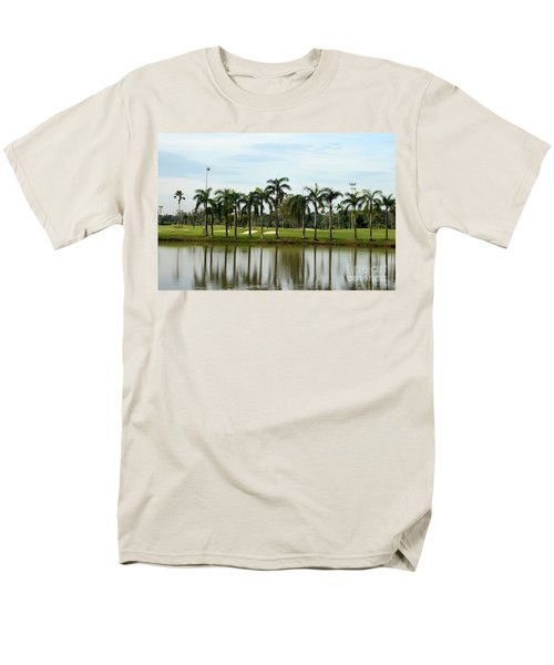 Lake Sand Traps Palm Trees And Golf Course Singapore Men's T-Shirt  (Regular Fit) by Imran Ahmed