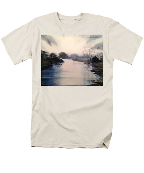 Lake Sunset Men's T-Shirt  (Regular Fit) by Alban Dizdari