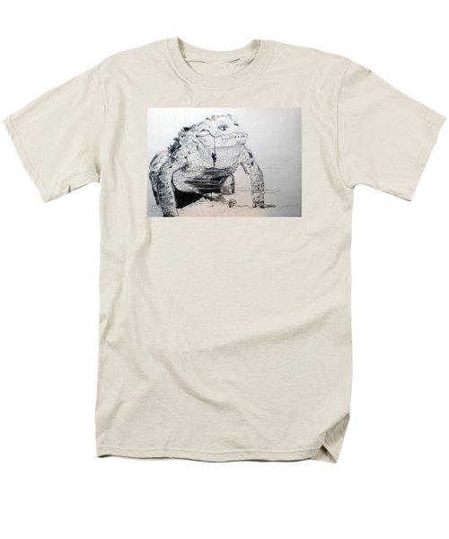 Men's T-Shirt  (Regular Fit) featuring the drawing Landing by Lazaro Hurtado
