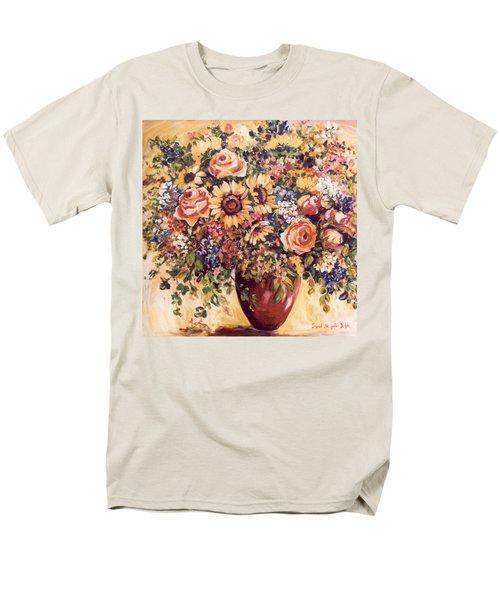 Late Summer Bouquet Men's T-Shirt  (Regular Fit) by Alexandra Maria Ethlyn Cheshire