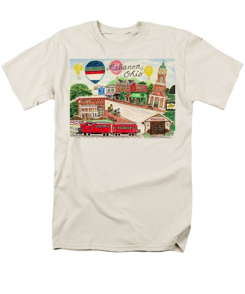 Men's T-Shirt  (Regular Fit) featuring the painting Lebanon Ohio by Diane Pape