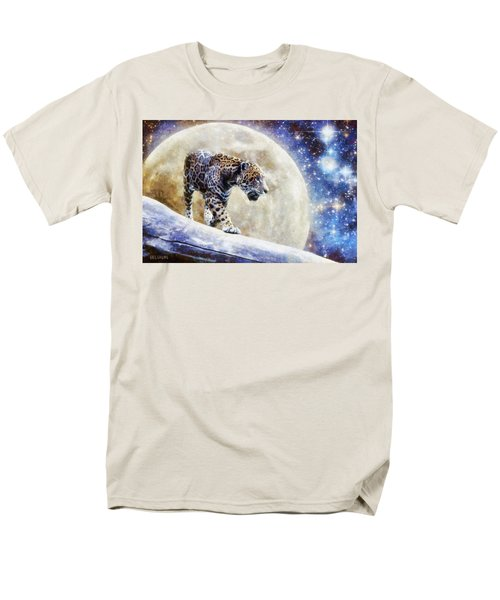 Men's T-Shirt  (Regular Fit) featuring the painting Leopard Moon by Greg Collins