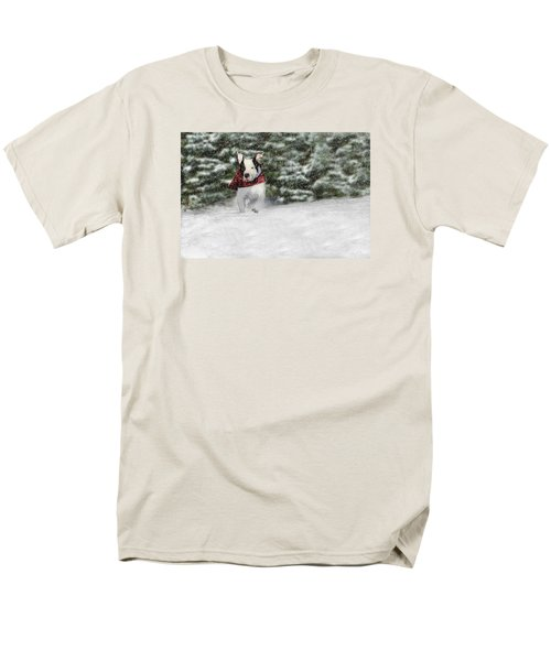 Snow Day Men's T-Shirt  (Regular Fit) by Shelley Neff
