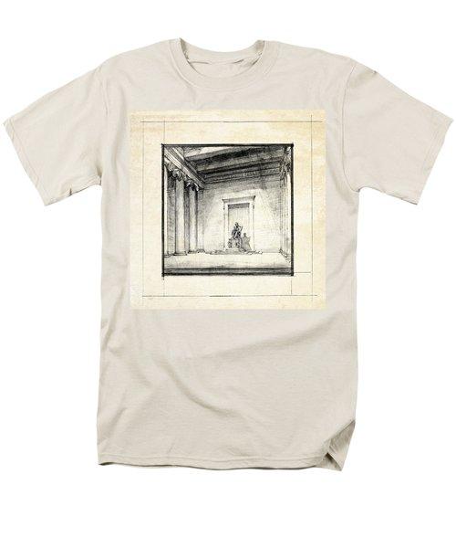 Lincoln Memorial Sketch IIi Men's T-Shirt  (Regular Fit) by Gary Bodnar