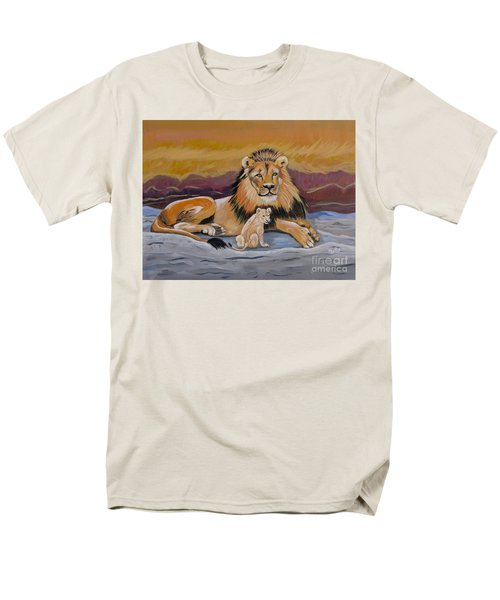 Men's T-Shirt  (Regular Fit) featuring the painting Lion And Cub by Phyllis Kaltenbach