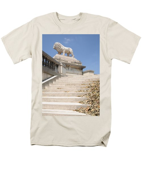 Lion Tuileries Garden Paris Men's T-Shirt  (Regular Fit) by Jeremy Voisey