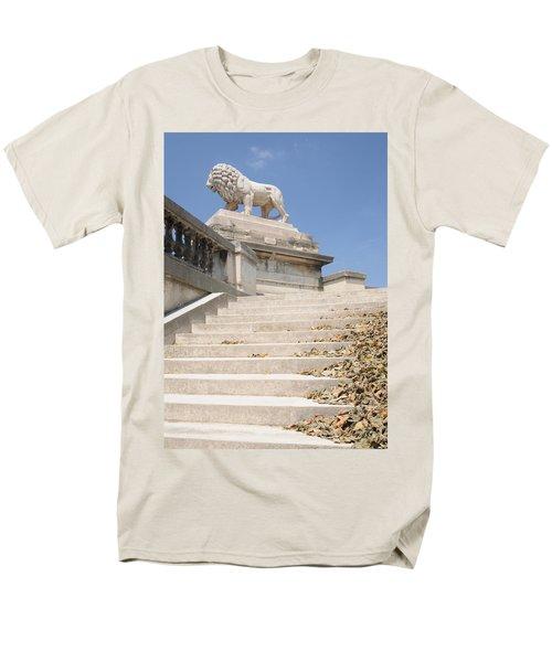 Men's T-Shirt  (Regular Fit) featuring the photograph Lion Tuileries Garden Paris by Jeremy Voisey