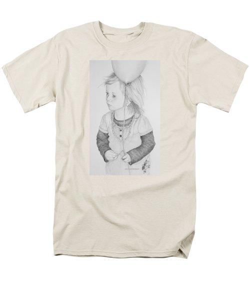 Little Girl With Balloon Men's T-Shirt  (Regular Fit) by John Stuart Webbstock