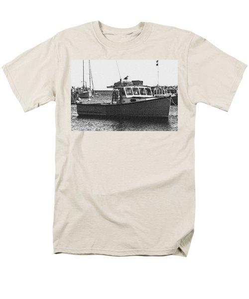 Lobster Boat Men's T-Shirt  (Regular Fit) by Fred Larson