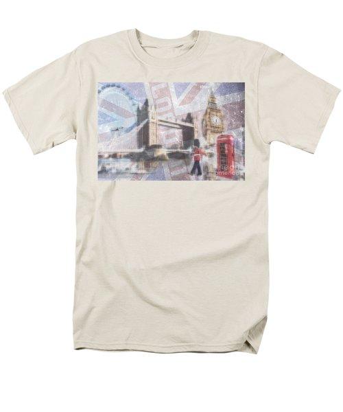 London Blue Men's T-Shirt  (Regular Fit) by Hannes Cmarits