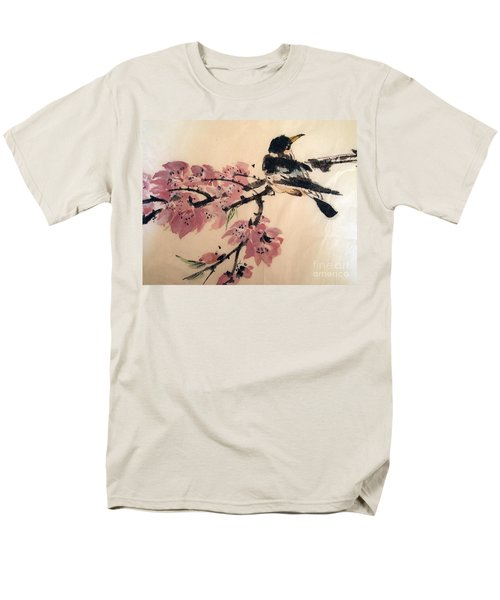 Men's T-Shirt  (Regular Fit) featuring the painting Looking Pretty by Nancy Kane Chapman