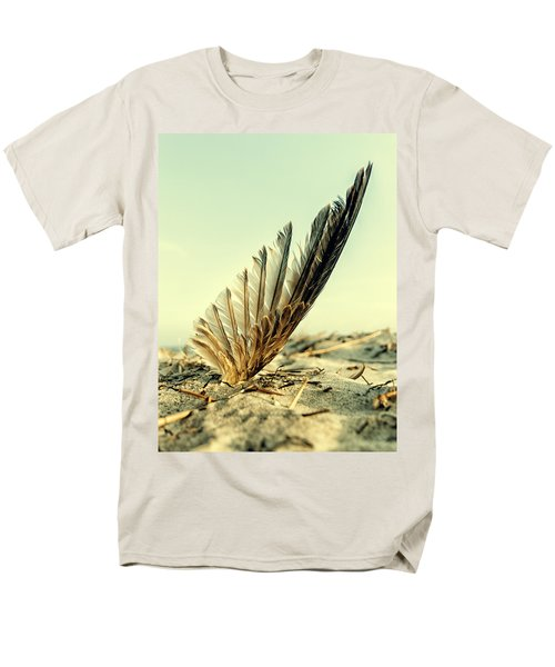 Lost Feather At The Beach Men's T-Shirt  (Regular Fit) by Mike Santis