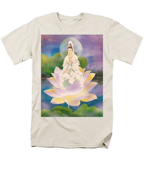 Lotus-sitting Avalokitesvara  Men's T-Shirt  (Regular Fit) by Lanjee Chee