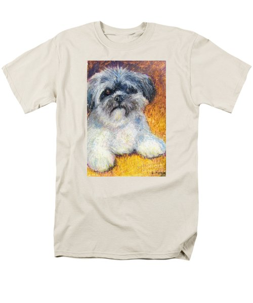 Love My Lhasa Men's T-Shirt  (Regular Fit) by Laurie Morgan