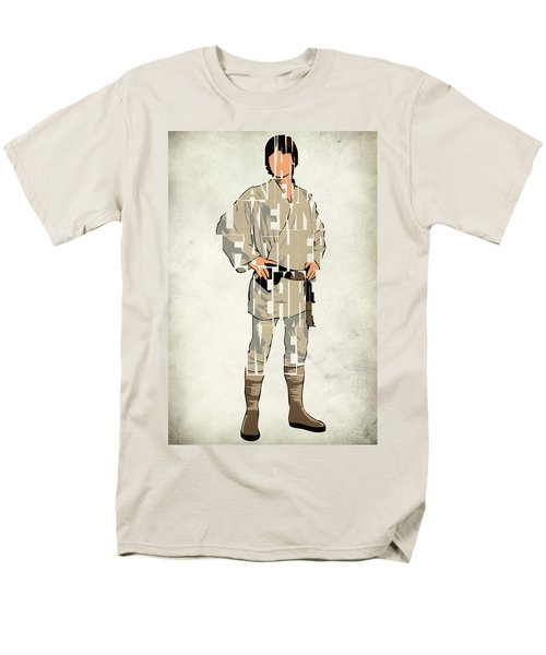 Luke Skywalker - Mark Hamill  Men's T-Shirt  (Regular Fit) by Ayse Deniz