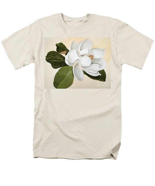 Men's T-Shirt  (Regular Fit) featuring the painting Magnolia Bloom by Nancy Kane Chapman