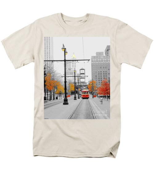 Main Street Trolley  Men's T-Shirt  (Regular Fit) by Lizi Beard-Ward