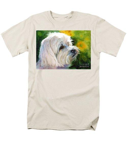 Maltese Men's T-Shirt  (Regular Fit) by Bonnie Rinier