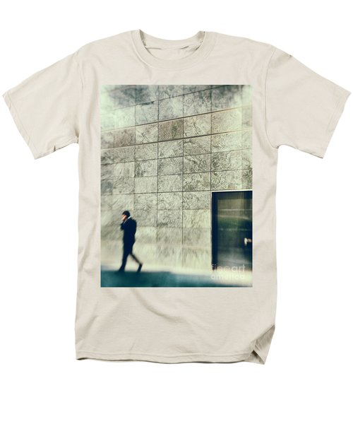 Men's T-Shirt  (Regular Fit) featuring the photograph Man With Cell Phone by Silvia Ganora